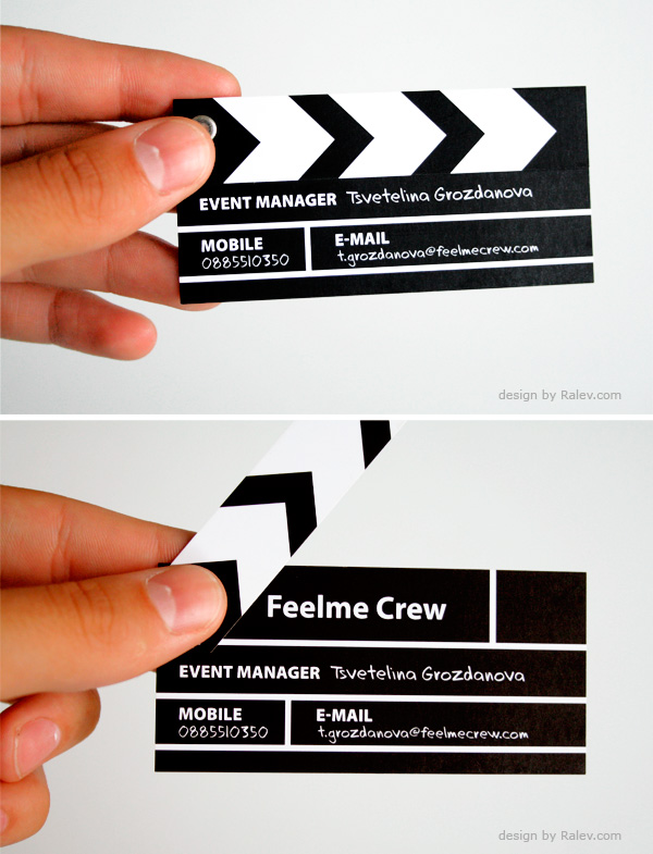 The approach to business cards words on images movie crew business card colourmoves